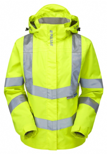 Pulsar P704 Ladies Storm Coat (High Vis Yellow)